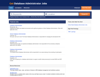 getdatabaseadministratorjobs.com screenshot
