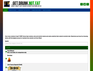 getdrunknotfat.com screenshot