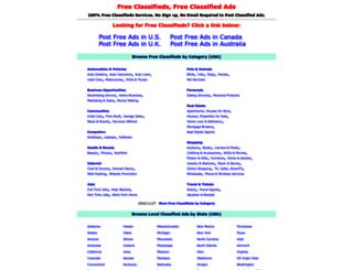 getfreeclassifieds.com screenshot