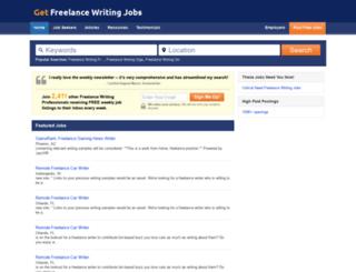 getfreelancewritingjobs.com screenshot