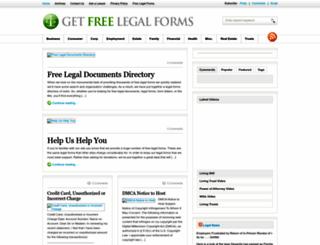 getfreelegalforms.com screenshot