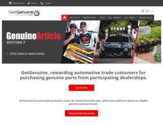 getgenuine.com.au screenshot