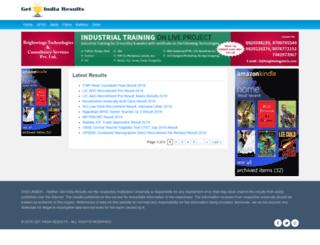 getindiaresults.com screenshot