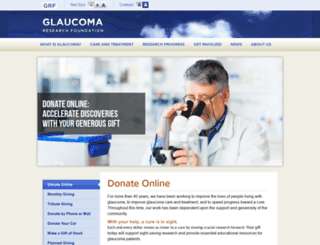 getinvolved.glaucoma.org screenshot