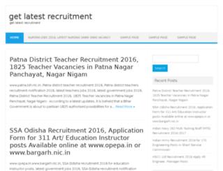 getlatestrecruitment.in screenshot