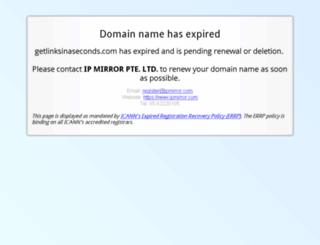 getlinksinaseconds.com screenshot