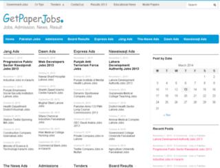 getpaperjobs.com screenshot