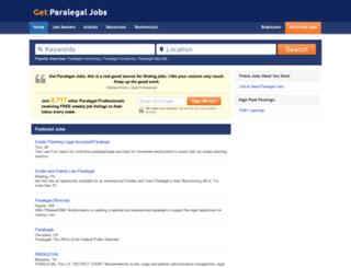 getparalegaljobs.com screenshot