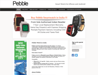 getpebbleinindia.com screenshot