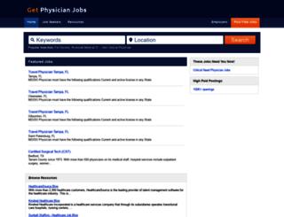 getphysicianjobs.com screenshot