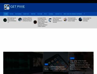 getpixie.com screenshot