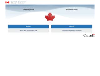 getprepared.gc.ca screenshot