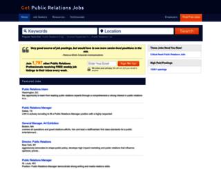 getpublicrelationsjobs.net screenshot
