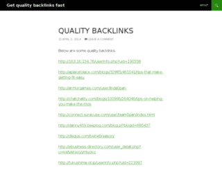getqualitybacklinksfast.wordpress.com screenshot