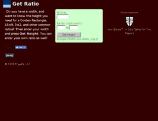 getratio.com screenshot
