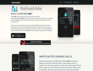 getrefresh.me screenshot