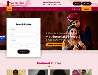 getrishta.com screenshot