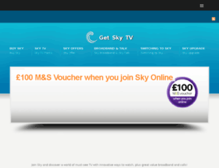 getskytv.co.uk screenshot