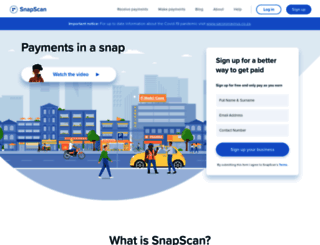 getsnapscan.com screenshot