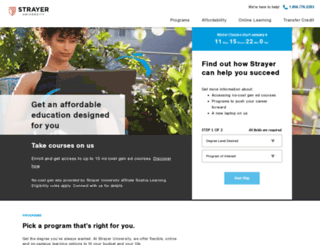 getstarted.strayer.edu screenshot