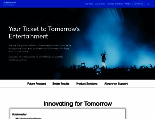 getstarted.ticketmaster.co.uk screenshot
