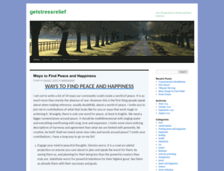 getstressrelief.wordpress.com screenshot