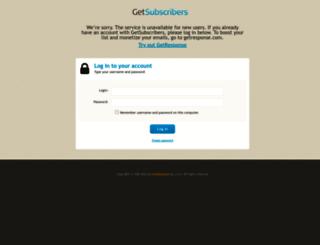 getsubscribers.com screenshot
