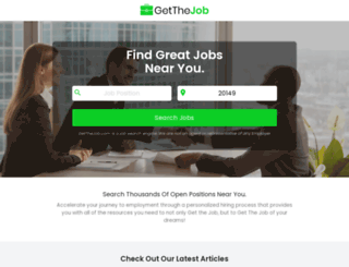 getthejob.com screenshot