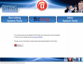gettingstarted.unitedfirstfinancial.com screenshot