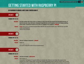 gettingstartedwithraspberrypi.tumblr.com screenshot