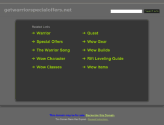 getwarriorspecialoffers.net screenshot