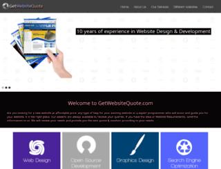 getwebsitequote.com screenshot