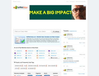 getwebvalue.com screenshot