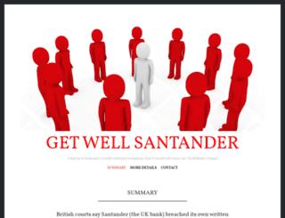 getwellsantander.com screenshot