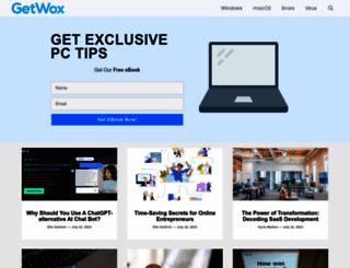 getwox.com screenshot