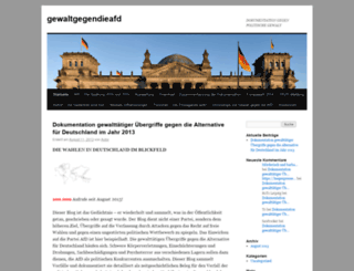 gewaltgegendieafd.wordpress.com screenshot