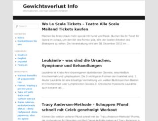 gewichtsverlustinfo.com screenshot