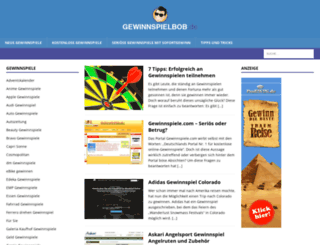 gewinnspielbob.de screenshot