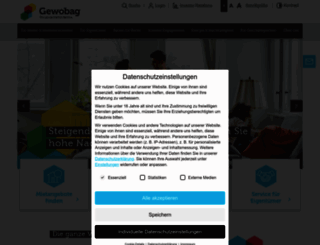 gewobag.de screenshot
