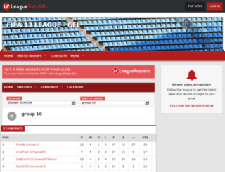 gfl13.leaguerepublic.com screenshot