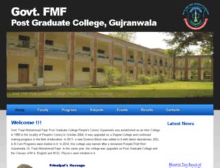 gfmf.edu.pk screenshot