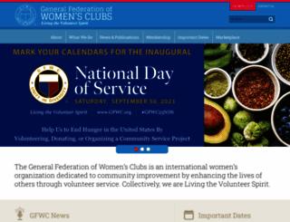 gfwc.org screenshot