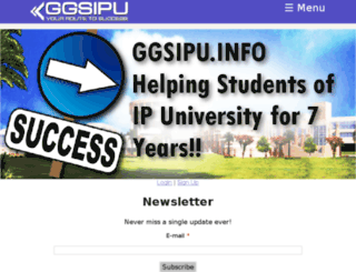 ggsipu.info screenshot