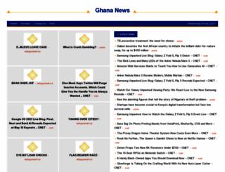 ghana.shafaqna.com screenshot