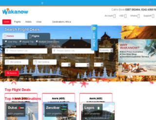 ghana.wakanow.com screenshot