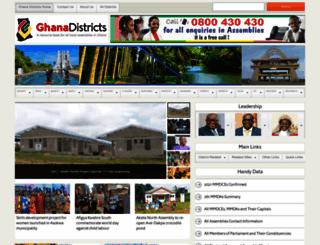 ghanadistricts.com screenshot