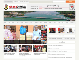 ghanadistricts.gov.gh screenshot