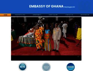 ghanaembassy.org screenshot