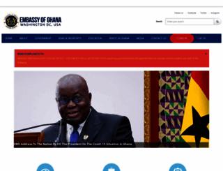 ghanaembassydc.org screenshot