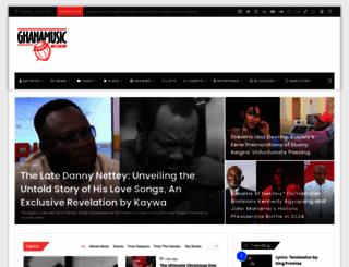 ghanamusic.com screenshot